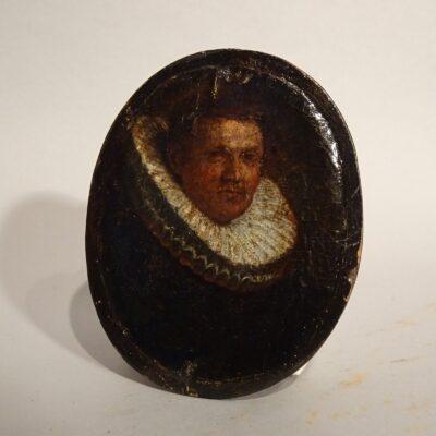 Piccolo ritratto di gentiluomo XVII secolo
