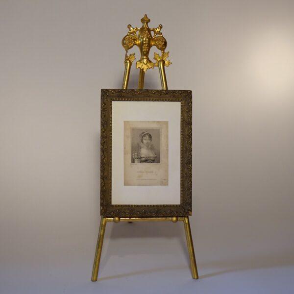 Portafotografie in legno dorato XIX secolo-3