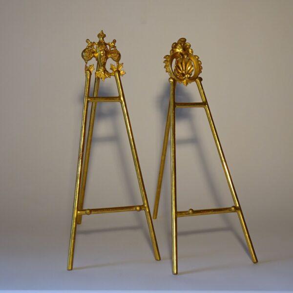 Portafotografie in legno dorato XIX secolo