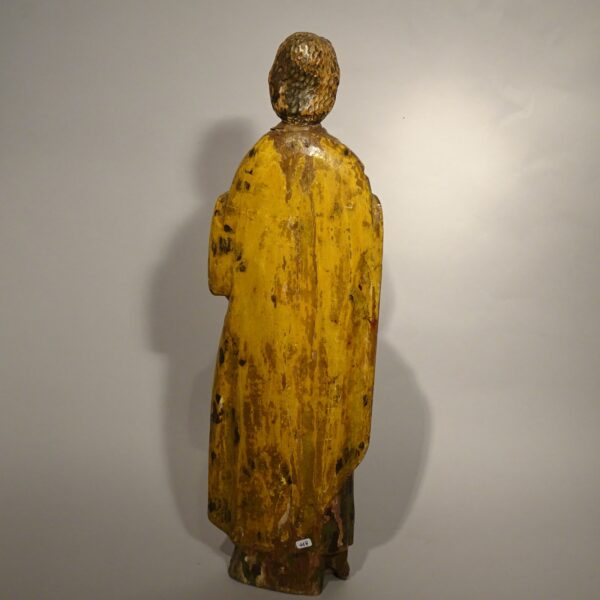 Profeta scultura lignea policroma XVI secolo-3