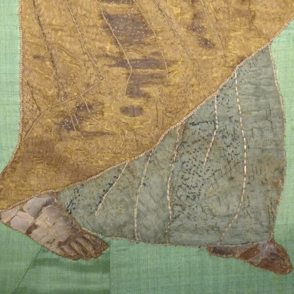 Ricamo su seta raffigurante S. Pietro XVIII secolo-3