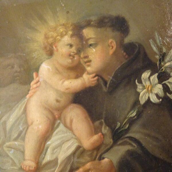 S.Antonio con il Bambino XVIII secolo-1