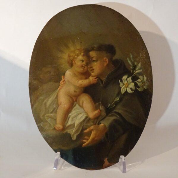 .Antonio con il Bambino XVIII secolo-3