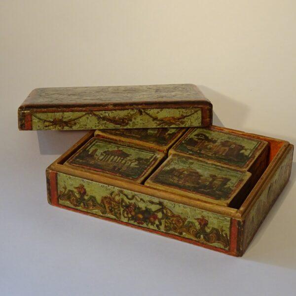Scatola da gioco arte povera XVIII secolo-1
