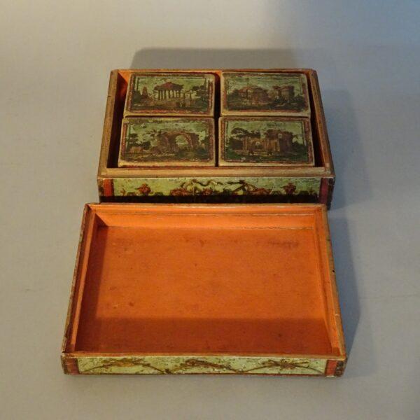 Scatola da gioco arte povera XVIII secolo-3