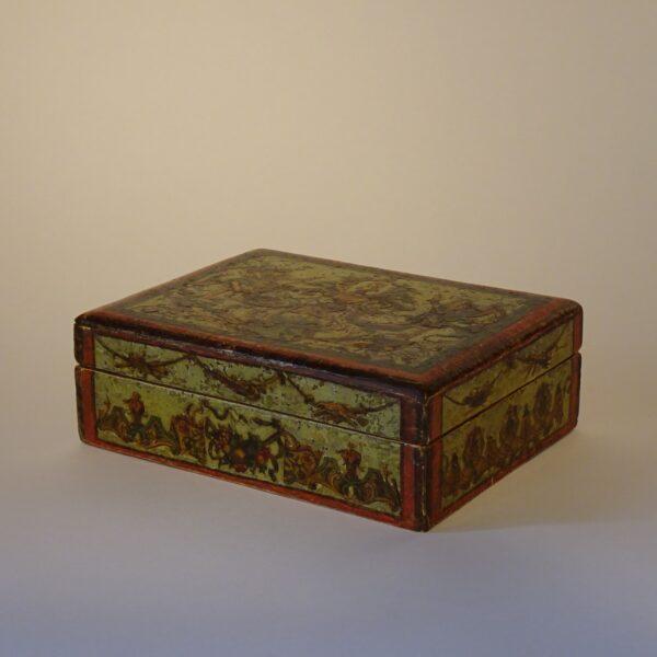 catola da gioco arte povera XVIII secolo