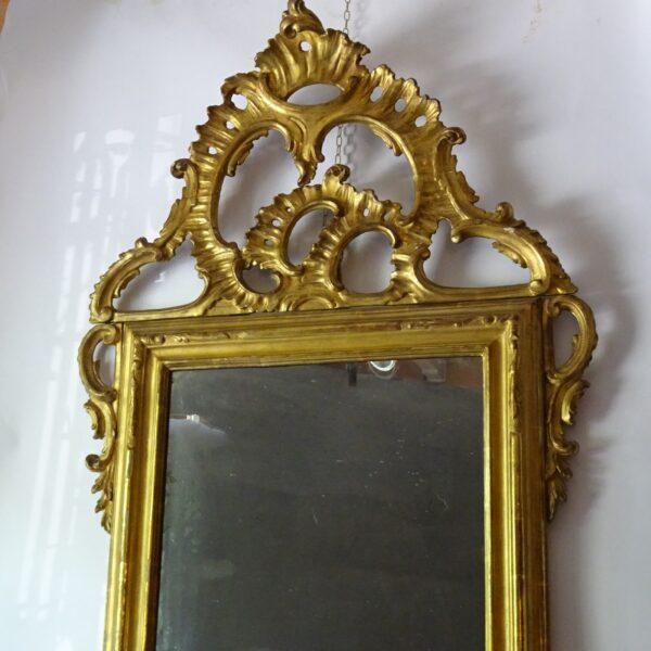 Specchiera in legno dorato XVIII sec.-2