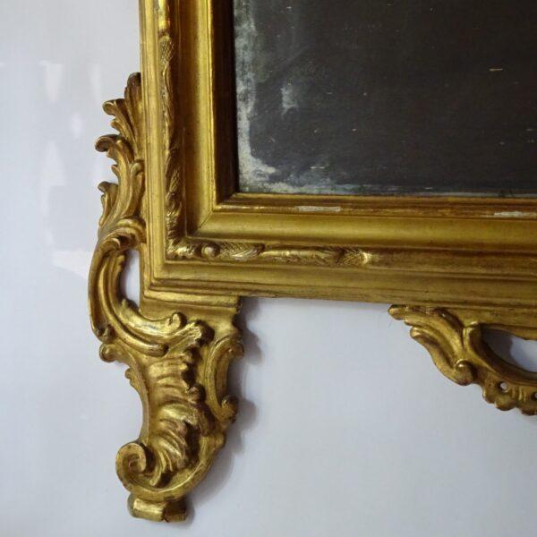 Specchiera in legno dorato XVIII sec.-3