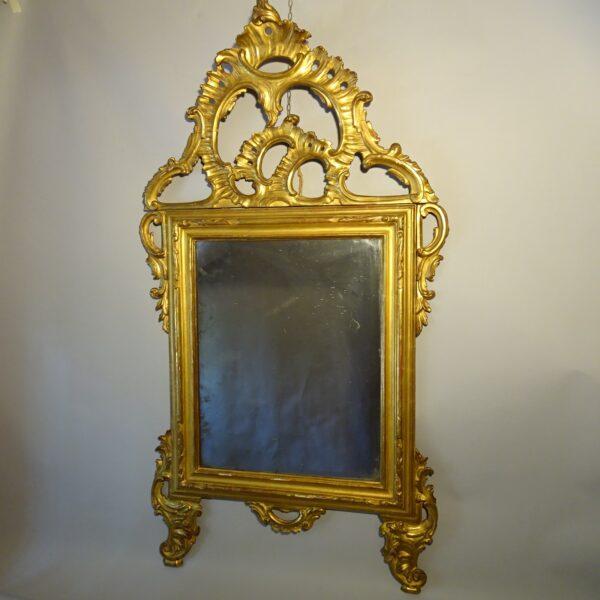 Specchiera in legno dorato XVIII sec.