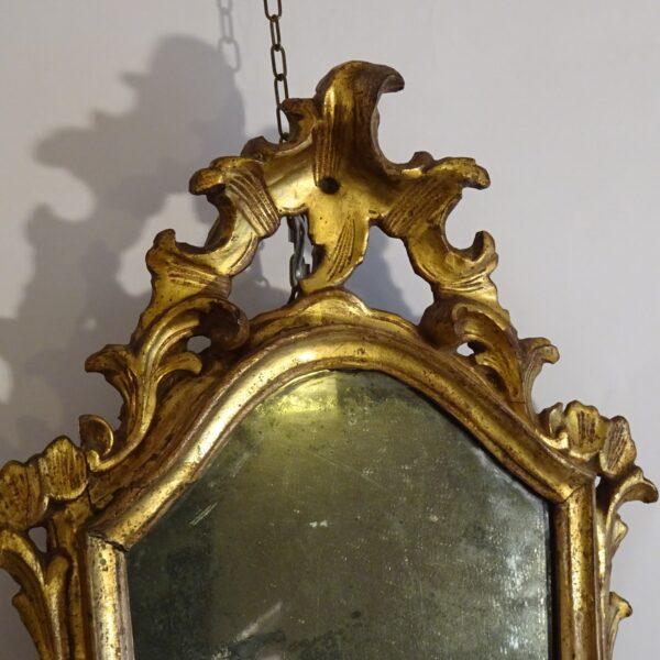 Specchierina in legno dorato XVIII secolo-1