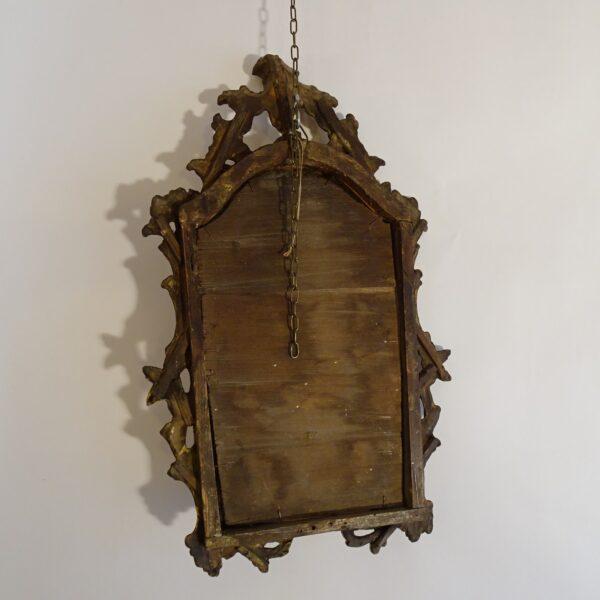Specchierina in legno dorato XVIII secolo-3