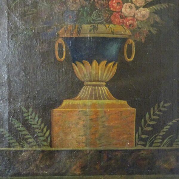 Vaso con fiori olio su tela XIX secolo-2
