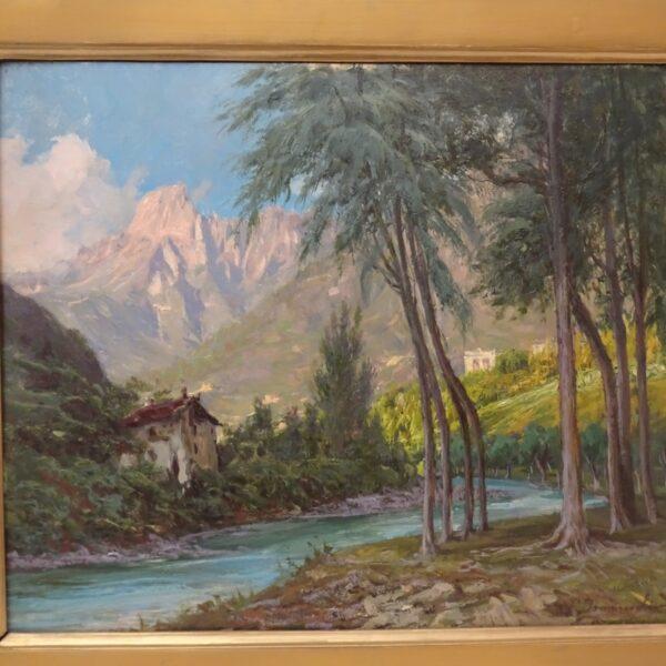 ancesco Domenighini Paesaggio con vista del Monte Rosa-1