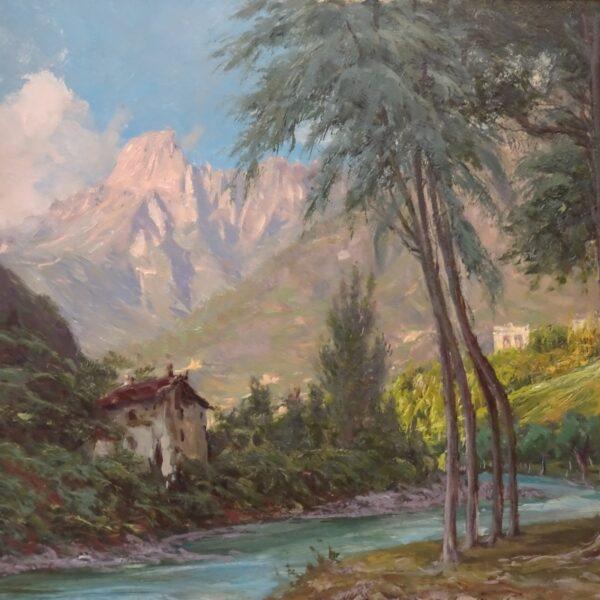 Francesco Domenighini Paesaggio con vista del Monte Rosa-2