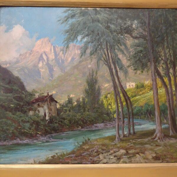 Francesco Domenighini Paesaggio con vista del Monte Rosa-3